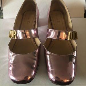 Christian Dior Mirror Finish Calfskin Ballet Pumps